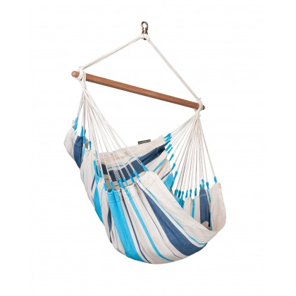 Hammock Chair Basic Caribeña Aqua Blue - from your hammocks shop in USA